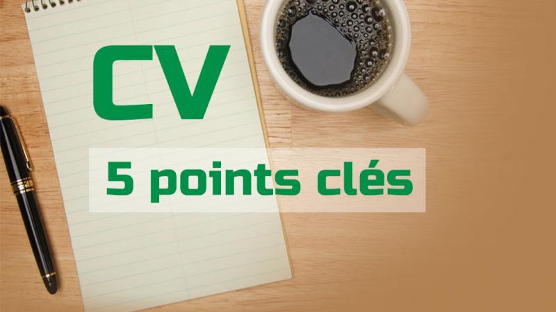 tuto  5 points cl u00e9s pour un bon cv  u2013 la tutoth u00e8que